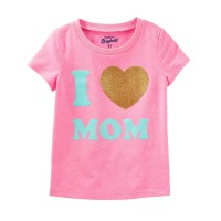 Футболка рожева I love mom