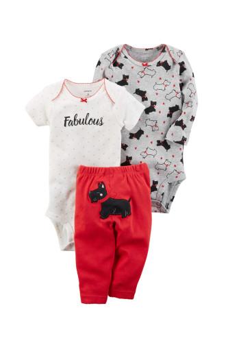 Комплект два бодіки, штани з собачкою fabulous