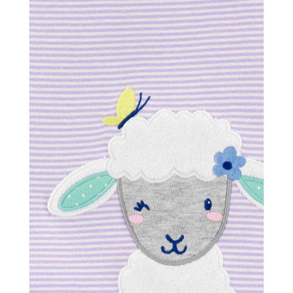Комплект 3в1 бодік з овечкою