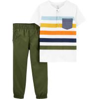 Комплект 2в1 теніска, зелені штани