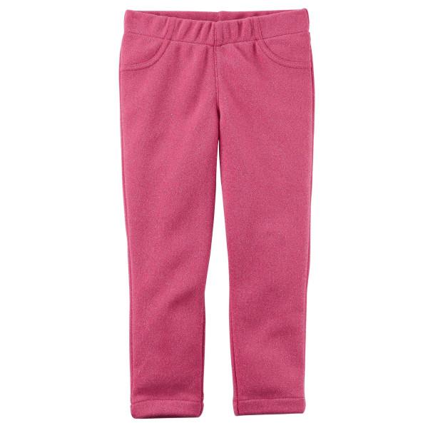 Лосіни рожеві з люрексом