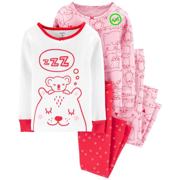 Піжама 1 шт з рожевими звірятами