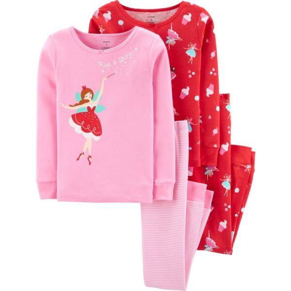 Піжама рожева 1шт  бавовна 100% з балеринами