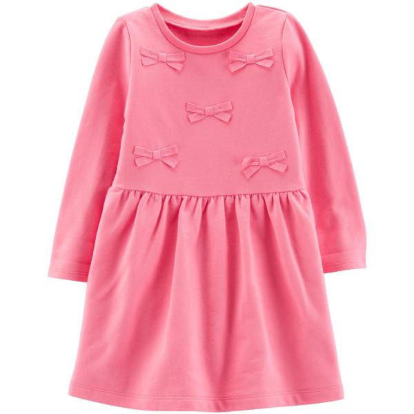 Плаття рожеве з бантиками