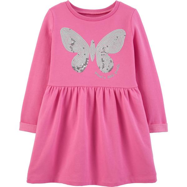 Плаття рожеве з паєтками